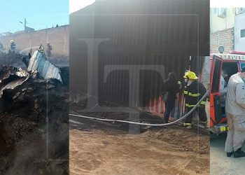 Evacuaciones y daños materiales deja incendio en zacatera de la Arturo Quezada