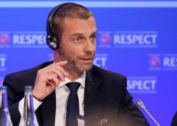 UEFA President Slovenia's Aleksander Ceferin attends a press conference following the UEFA Executive Committee meeting, in Dublin on December 3, 2018. (Photo by Paul FAITH / AFP)