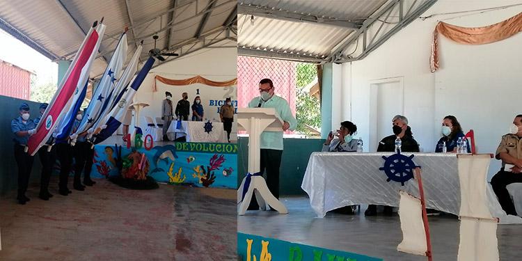 Al evento asistieron autoridades municipales y educativas, delegados militares y del gobierno, brindando el discurso principal el historiador Ismael Zepeda.