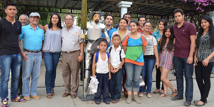 Imagen del recuerdo de la celebración del Día del Idioma en Danlí.