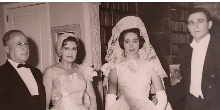 Don Boris Goldstein, doña Gustava Goldstein, Frances y Jacobo Goldstein. 15 de abril 1961.