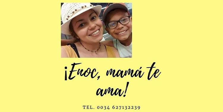El menor Enoc Pérez, fue secuestrado por delincuentes que mataron a su abuelo, tío y niñera en Tela en el 2019.