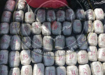 Unas seis toneladas de cocaína han sido decomisadas y con captura de 448 personas por traficar droga en 2021.