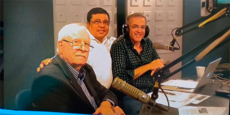 Jacobo, José Cerraro y Óscar Haza.