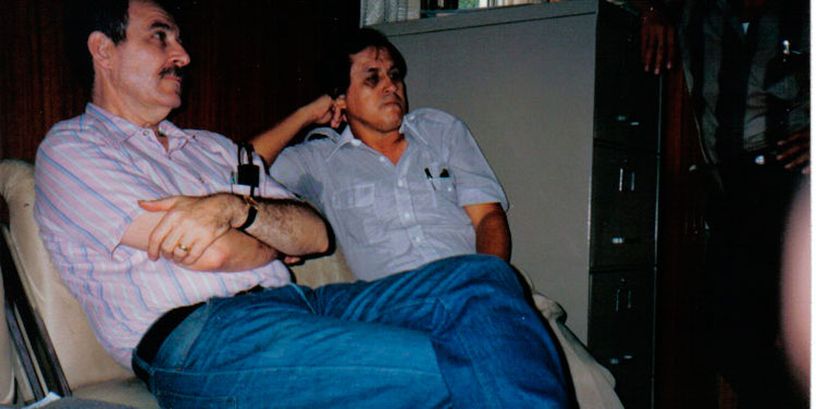 Jacobo Goldstein y Chelato Uclés.