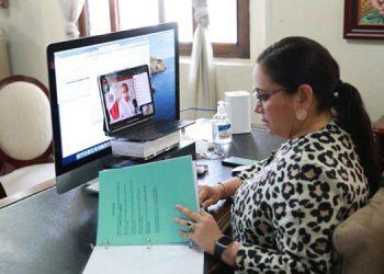 """La Primera Dama, Ana García de Hernández, dijo que """"queremos dejar legado de una política migratoria bien definida"""", durante una reunión virtual con el G-16."""