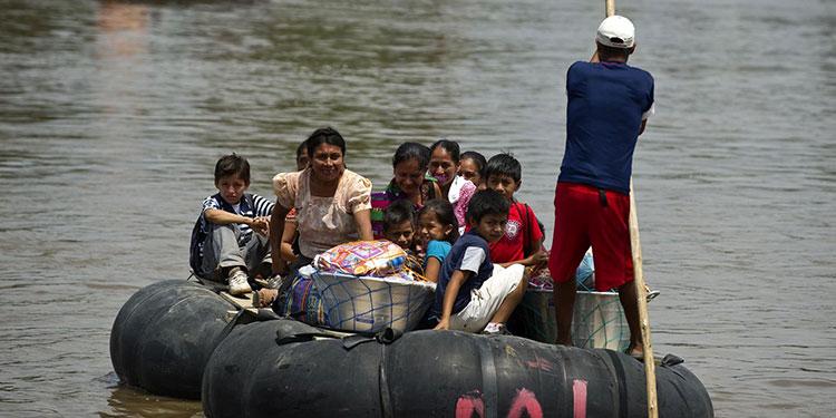 México detectó el mayor número de tráfico de niños en la frontera.