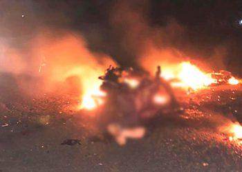 En febrero de este año, dos jóvenes de nombre Cristian, uno de apellido Montes y otro Medina, fallecieron calcinados tras impactar con sus motocicletas, en San Manuel, Cortés.