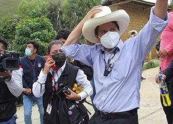 El candidato izquierdista conservador Pedro Castillo acumuló el 16.1% de votos (LASSERFOTO AP)