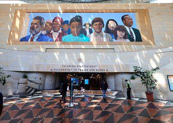 La estación de trenes de Los Ángeles y otra sede alternativa en Londres serán los escenarios de los Óscar. (LASSERFOTO AFP)