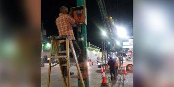 Varios kits de semáforos fueron cambiados en la ciudad de Siguatepeque en lugares estratégicos.