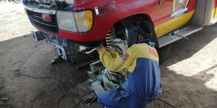 La ambulancia está en mantenimiento desde el jueves pasado, esperando se culminen los trabajos en estos días.