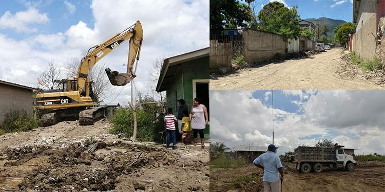 Gracias a un trabajo arduo en el Valle de Sula, se logró en tiempo récord la limpieza de calles, alcantarillas y viviendas.