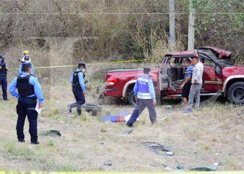 Una persona fallecida y cuatro heridos deja fatal accidente en carretera a Olancho