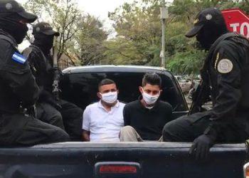 """Josué David Enamorado Aguilar alias """"El Timba"""" y Jonathan Nicolás Díaz Rodríguez alias """"El Tan""""."""