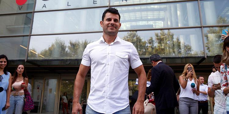 Javier Sánchez Santos, a su llegada Ciudad de la Justicia en Valencia. EFE
