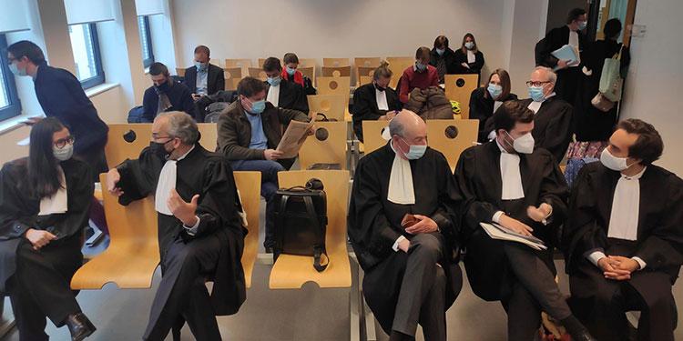 Vista del tribunal de primera instancia de Bruselas, que celebra este miércoles la primera vista del juicio entre la Comisión Europea y la farmacéutica AstraZeneca