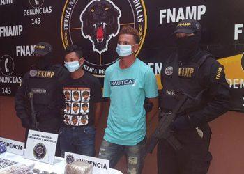 Los dos miembros de la MS-13 fueron detenidos en el municipio de Marcovia, Choluteca.
