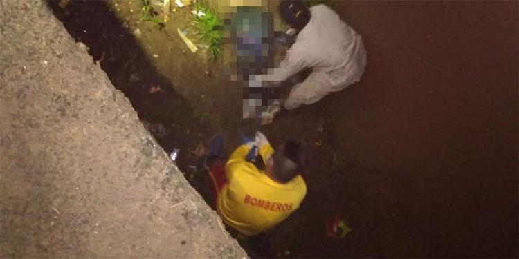 El labrador Fernando Sánchez supuestamente se cayó al río Mangua tras resbalarse de un muro cuando andaba al calor de los tragos.