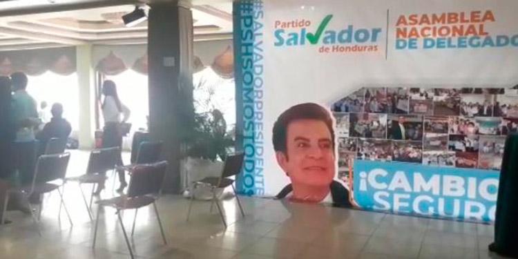 Esta foto fue tomada de un video de la supuesta asamblea ayer en Siguatepeque.