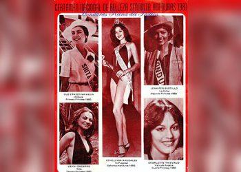 Bellezas. Recuerdos de agraciadas participantes de aquel Miss Honduras 1980-81.