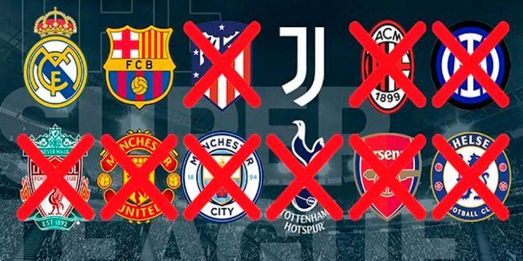 La mayoría de los equipos europeos abandonaron la idea de la super liga