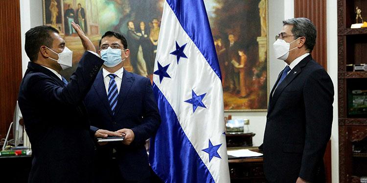 El nuevo ministro de la Presidencia, Abraham Alvarenga Urbina.