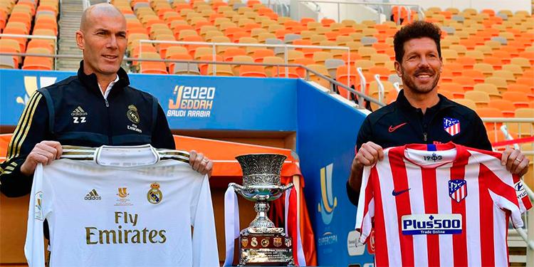 Zinedine Zidane y el Cholo Simeone.