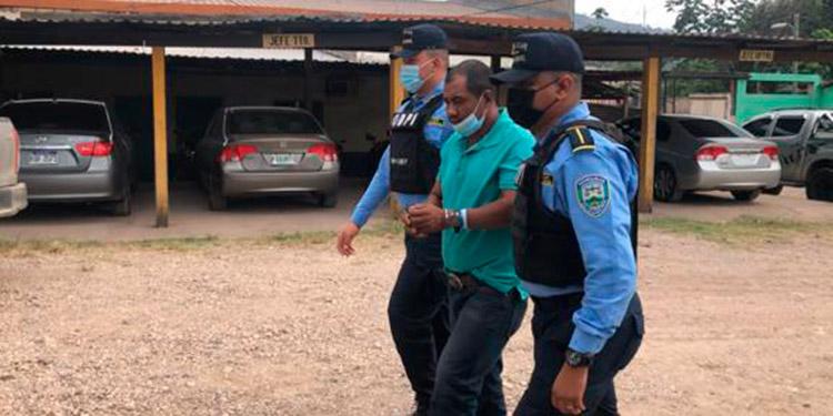 Godofredo Reyes Duarte fue capturado en la aldea Los Lirios Poncaya, del municipio de Catacamas.