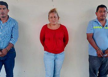 Edith Carolina López Martínez, Alex Natanael Aguilar Almaraz y Santos Alfredo Obando.