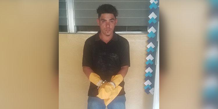 """Elí Saúl Vargas Borjas (31), alias """"El Mudo"""", es acusado de la muerte de un transportista en el mercado Jacaleapa."""