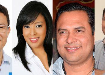 Ebal Díaz, Lissi Cano, Luis Pinel y Ramón Carranza.