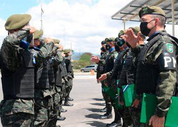 Los nuevos miembros de la Policía Militar desde hoy se pusieron a disposición de sus autoridades, para combatir frontalmente al crimen común y organizado.