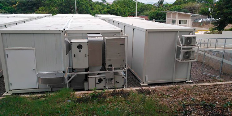 Para poner en funciones el hospital móvil de Choluteca solo falta ajustar la regulación eléctrica.