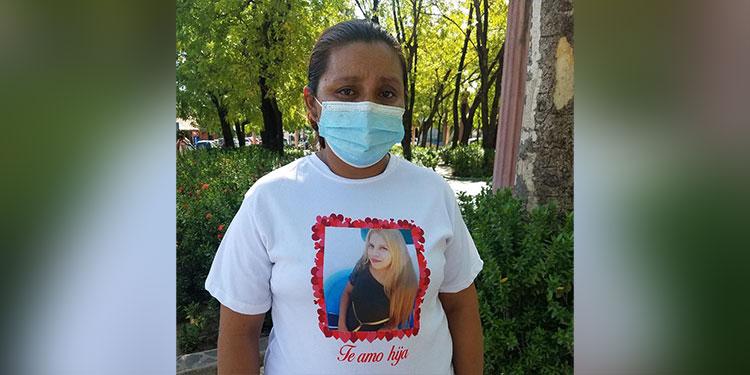 Angustiada se encuentra Nancy Patricia Cruz Serrano y la familia al no saber el paradero de Mailyn Yorleni Izaguirre Cruz.