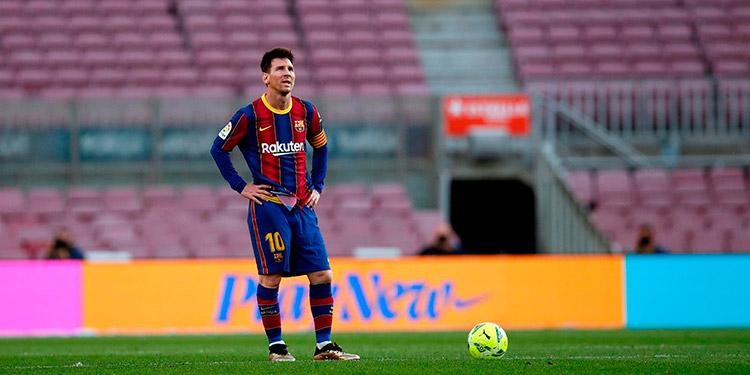 """Messi no suelta el """"Pichichi"""" en España."""