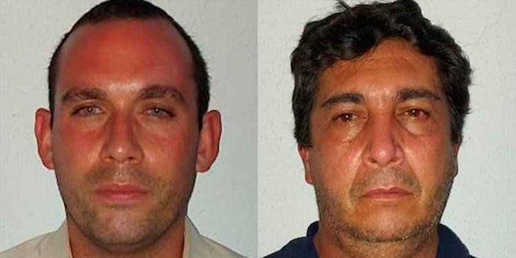 Juan Camilo Cadena Botero y Harold Darío Rivera Toleda, piloto y ayudante de carga, respectivamente.