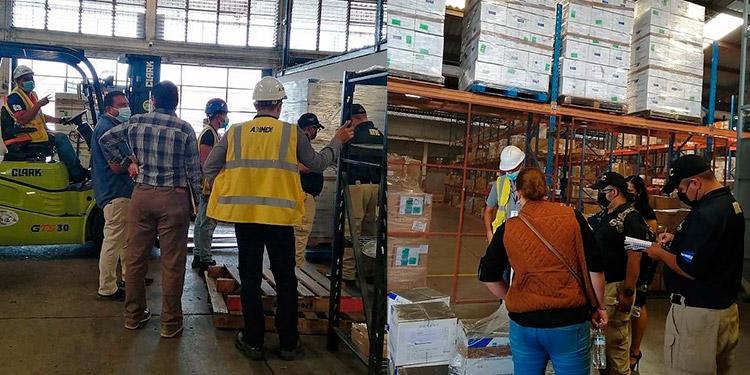 Se hicieron inspecciones en la aduana de Toncontín, por lote de hidroxicloroquina almacenada hace varios meses.