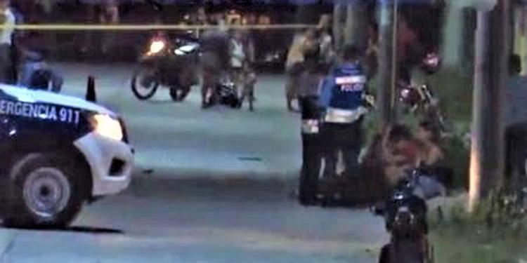 Elementos de la Policía Nacional se presentaron a la zona de San Pedro Sula trasel reporte del accidente,