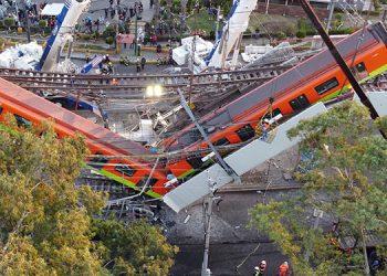 El accidente en la Línea 12 del metro de Ciudad de México, que dejó al menos 24 muertos y unos 80 heridos, corona un historial de fallas que han marcado la obra desde sus inicios. (LASSERFOTO EFE)