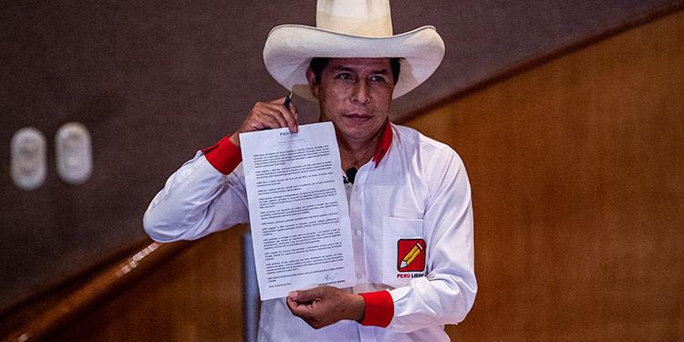 Pedro Castillo. (LASSERFOTO AFP)