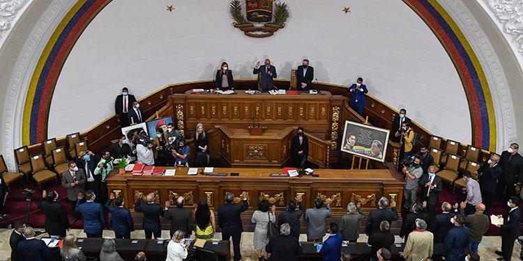 """La oposición venezolana pidió que no se imponga """"unilateralmente el árbitro electoral"""", poco después de que la Asamblea Nacional designara a los cinco integrantes del Consejo Nacional Electoral. (LASSERFOTO EFE)"""