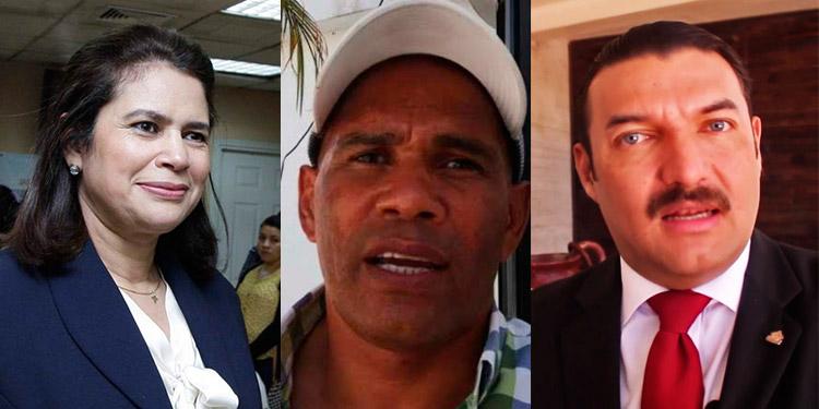 Rixi Moncada, Mario Moncada y Rasel Tomé.