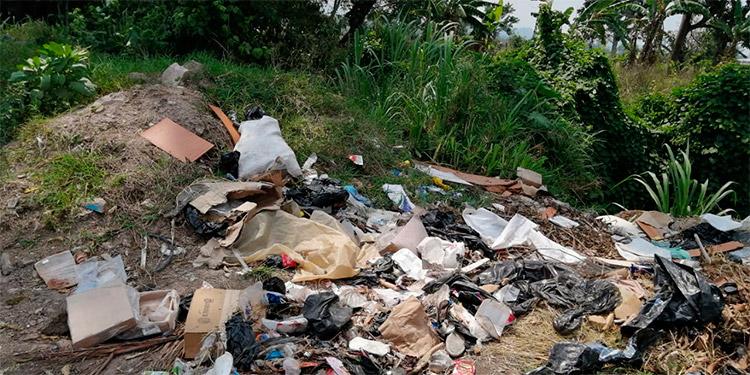 La basura que se encontró son los residuos provenientes de hogares, desconociéndose quiénes son las personas que lanzan los desperdicios en tales lugares.