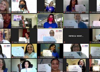 La iniciativa AWE niciat fue inaugurada en 2019 por la Oficina de Asuntos Culturales y Educativos (ECA) del Departamento de Estado de los Estados Unidos, para apoyar a mujeres emprendedoras en todo el mundo.