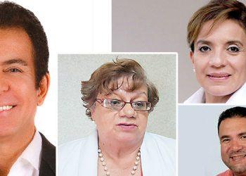 Salvador Nasralla, Xiomara Castro, Juan Carlos Elvir, Doris Gutiérrez.