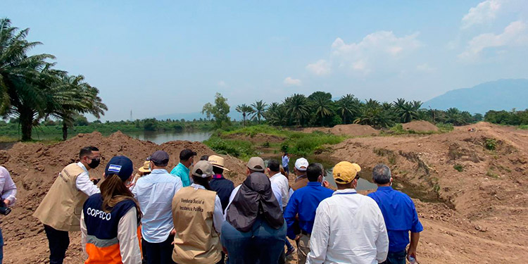 La reconstrucción de los bordos en el Valle de Sula se encuentran desarrollándose tras la aprobación de licitaciones y contratos, según Fonac.