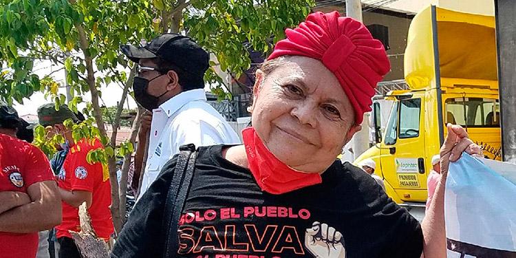 Gladys Ordóñez, vicepresidenta departamental de la Plataforma de Maestros Jubilados y Pensionados.