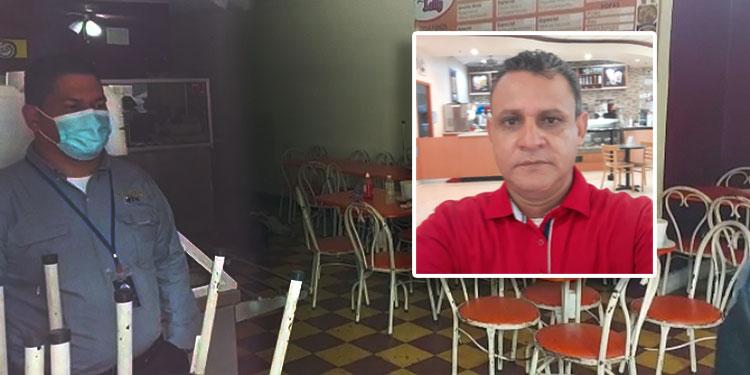 Se indicó que el abogado Eduardo Enrique Castellanos Quiñónez (foto inserta), llegaba a almorzar al negocio donde buscó evadir el ataque de los pistoleros, a unas cuadras de su bufete.