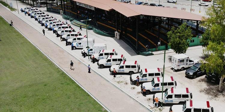 23 de las 25 ambulancias fueron adquiridas por la Secretaría de Salud y 2 fueron donadas por el BCIE.
